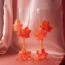 "Свадебные бокалы ""Осень"""
