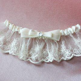 Подвязка невесты «Милая с двойным бантиком»