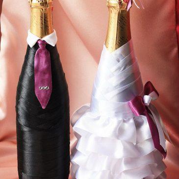 """Свадебный наряд для бутылок """"Моднявые"""""""