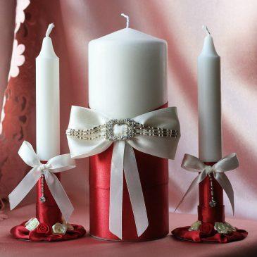 Свадебные свечи Бордо