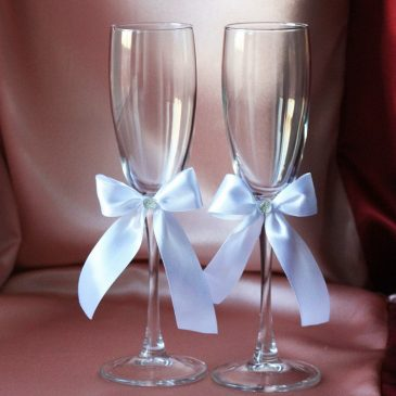 Свадебные бокалы Милая пара