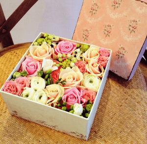 Букет в коробке Цветы в коробке