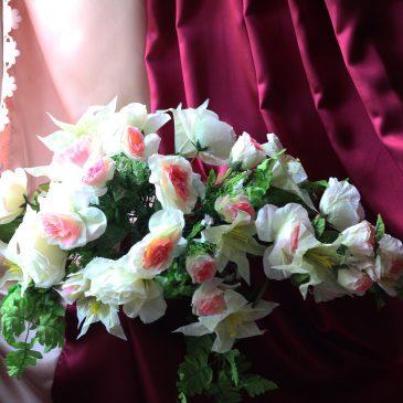 Свадебная цветы на машину №13