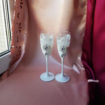 Свадебные бокалы айвори №41