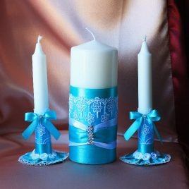 Свадебные свечи Бирюзовая нежность