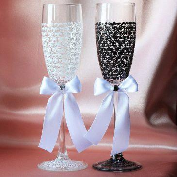 Свадебные бокалы Паутинка
