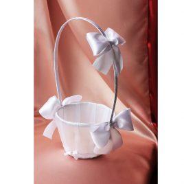 Белая корзинка для лепестков