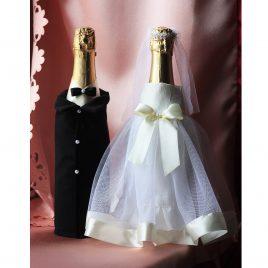 Одежда на бутылки Молодые с айвори ( съемная )