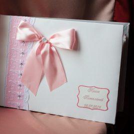 Альбом для пожеланий Нежно розовый с узорами