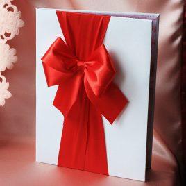 Папка для свидетельства о браке Бант Красный Формат А4