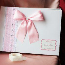Альбом для фото Нежно розовый с узорами