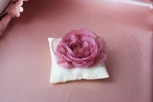 Подушка для колец Цветок розовый