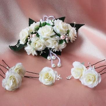 Украшение для прически невесты Набор розочки