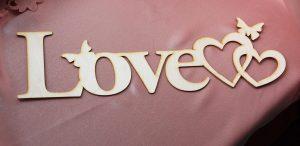 Надпись деревянная Love 2
