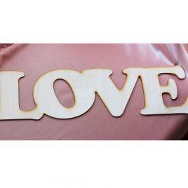 """Надпись деревянная """"Love"""" с покраской"""