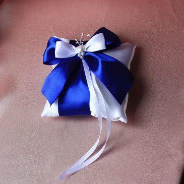 Подушечка для колец Изюминка синяя