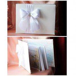 Альбом для пожеланий Бант сбоку белый
