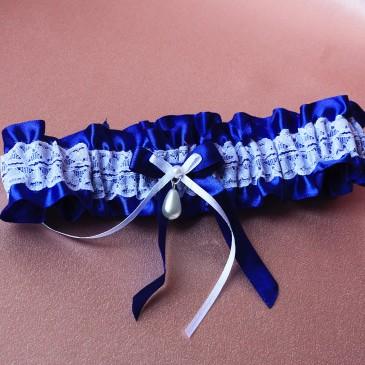 Подвязка Нарядная синяя