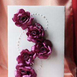 Папка для свидетельства Лилу фиолетовая Формат А4