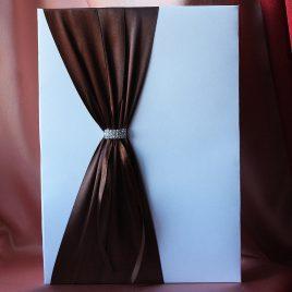 Папка для свидетельства о браке Мгновение коричневая