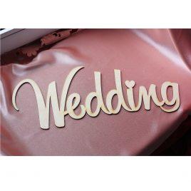 Надпись деревянная Wedding с покраской