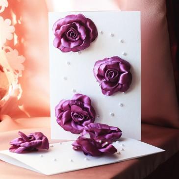 Пригласительные Лилу фиолетовая А5