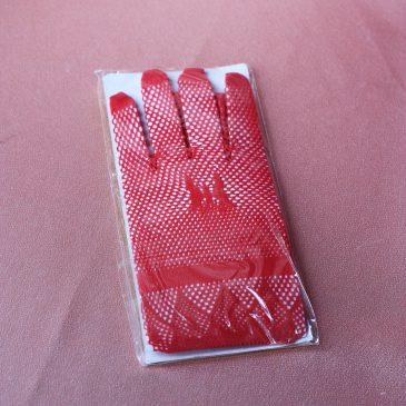 Перчатки красная сеточка