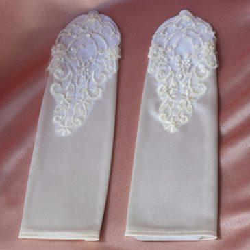 Перчатки свадебные для невесты купить в СПб