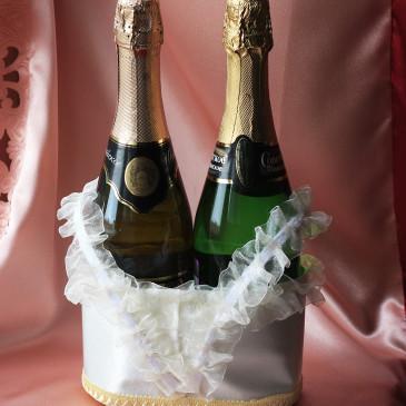 Корзинка мягкая под шампанское айвори