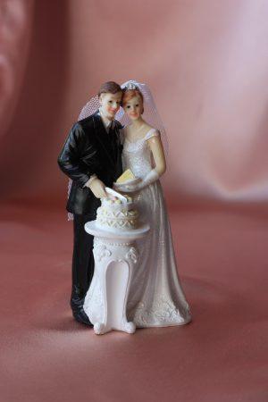 Фигурка свадебная пара жених и невеста № 5
