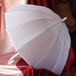 Свадебный зонтик белый