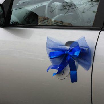 Бант на свадебную машину №2 Синий