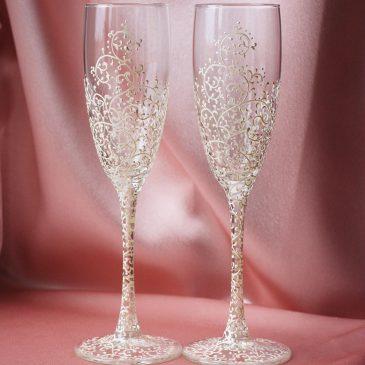 Свадебные бокалы Дуэт айвори