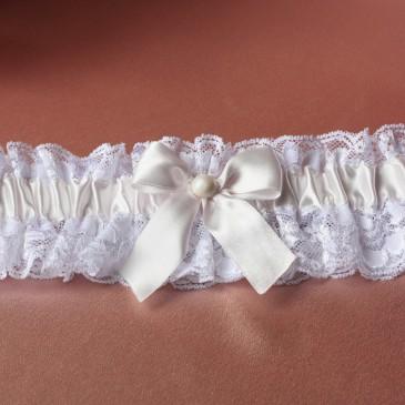 Свадебная подвязка невесты лента нежно-розовая
