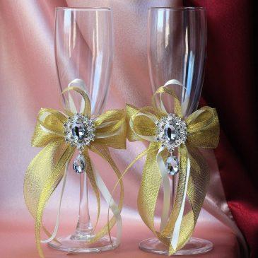 Свадебные бокалы Малый Эрмитаж Золото