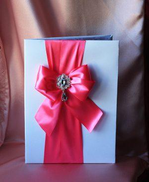 Папка для свидетельства о браке Бант розовый Формат А4