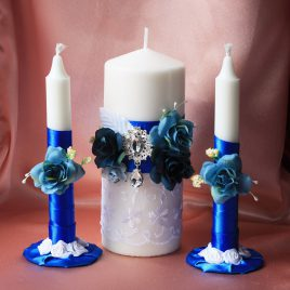 Свадебные свечи Ромео синие