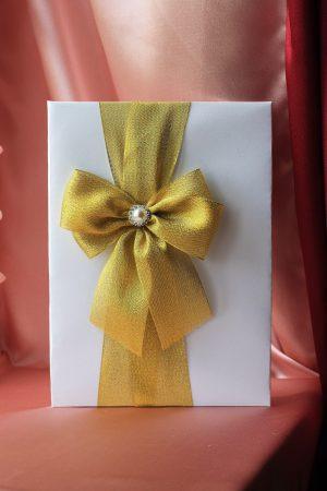 Папка для свидетельства о браке Бант золотой Формат А4