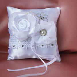 Свадебная подушка для колец Мария