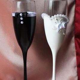 Бокалы Жених и Невеста Изумление