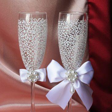 Свадебные бокалы Легкие Шик