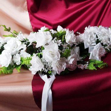 Свадебная цветы на машину №3