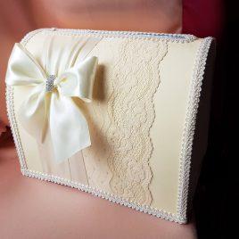 Свадебный сундук для денег Милена айвори