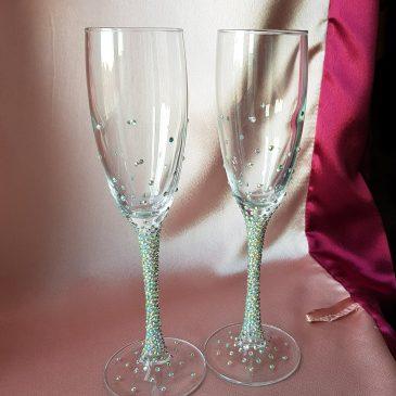 Свадебные бокалы Блеск №7