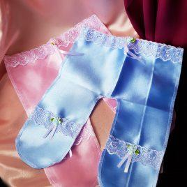 Ползунки для денег розово-голубые №1