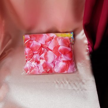 Лепестки роз, розово-красный №2