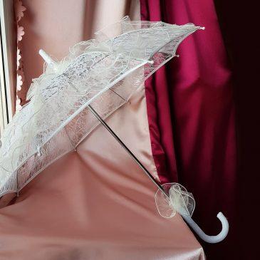Свадебный кружевной зонт №7