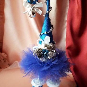 Топиарий Елка-топотушка синяя №9