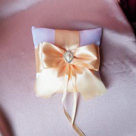 Подушка для колец персик №9