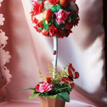 Топиарий подарок Весеннее дерево счастья